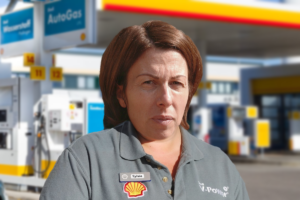 Luxembourg gas station employee