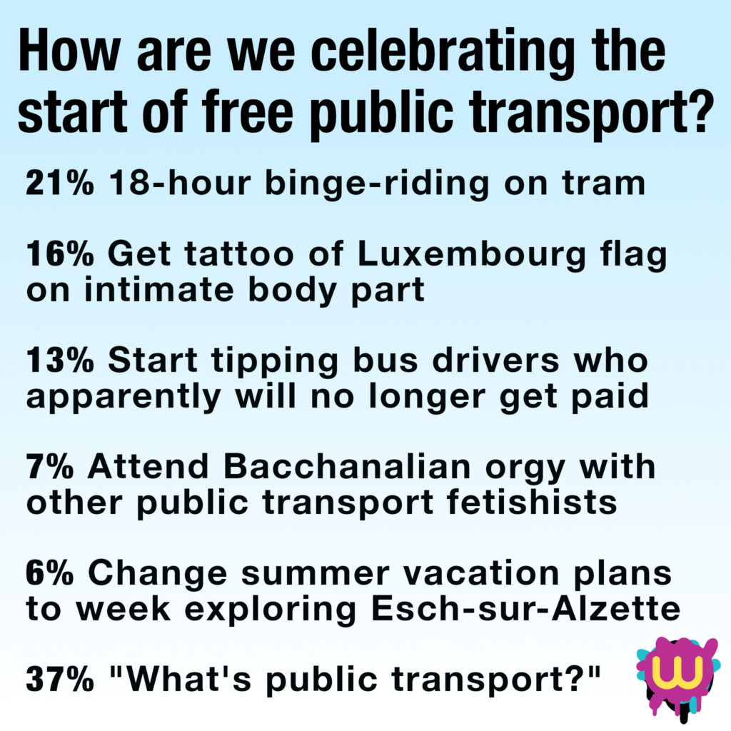 Free public transport in Luxembourg: how are we celebrating?